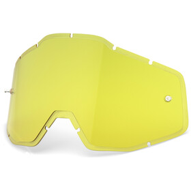 100% Injected HD Anti-Fog F. Verres de lunettes Racecraft/Accuri/Strata, yellow